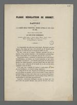 Rapport sur le pliage régulateur de Brunet, plieur pour la Fabrique de Lyon, effectué par la société royale d'agriculture, histoire naturelle et arts utiles de Lyon.