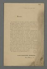 Présentation publicitaire d'un système d'amélioration de la mécanique des métiers Jacquard, présenté par André Raguenet, dessinateur.