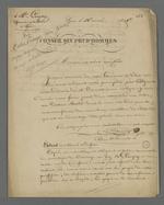 Lettre de Pierre Charnier, adressée à Roussy, tisseur en peluche, dans laquelle il lui transmet un extrait d'une lettre qu'il a écrit à l'intention de son médecin, le docteur Rater, suivie de la copie intégrale de cette lettre.
