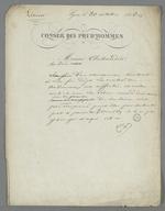 Lettre dans laquelle Pierre Charnier s'inquiète auprès de Thibaudier du retard de la publication à propos de la question de la lésion.