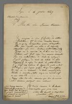 Lettre d'éloges et de félicitations adressée par Perrin fils aîné à Pierre Charnier prud'homme.