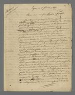 Réponse de Pierre Charnier à la lettre de félicitations de Perrin fils aîné pour sa réélection au Conseil des Prud'hommes.