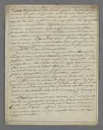 Faire-part de décès de Mme Virieux, suivie d'une note de Pierre Charnier adressée à son époux, qui fut son adversaire lors des élections prud'hommales.