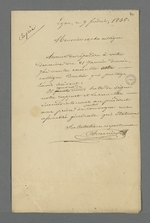 Réponse de Pierre Charnier à Félix Balleidier dans laquelle il indique qu'il exige la signature du rapport sur l'arbitrage relatif au prix déduit des déchets par chaque conseiller prud'homme présent lors de l'arbitrage.