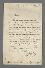Lettre adressée à Pierre Charnier relative à une affaire dont il s'occupe qui concerne le président de la Chambre de Commerce.