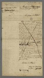 Lettre de Pierre Charnier adressée à Favier, gérant du journal