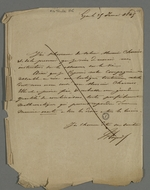 Lettre adressée à Pierre Charnier au sujet d'un projet de service d'assurance sur la vie.