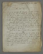 Lettre de Leborgne adressée à Pierre Charnier dans laquelle il le consulte sur des questions sociales et industrielles dans le cadre des élections législatives pour l'Assemblée Nationale Constituante.