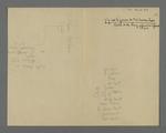 Notes de Fernand Rude dans lesquelles est recopié sous forme de schéma, le plan symbolique de Pierre Charnier, accompagné d'explications et de citations.