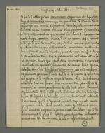 Notes de Pierre Charnier relatant la constitution de la commission improvisée de chefs d'ateliers et des ouvriers, entre le 08 et le 14 octobre, date de la présentation de la réclamation sur le tarif minimum au préfet Bouvier-Dumolart.