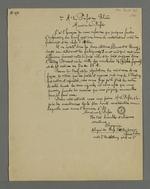 Lettre de Pierre Charnier adressée au préfet Bouvier-Dumolart, dans laquelle il l'informe que certaines fautes d'impressions sur l'affiche du tarif minimum sont source de contestations, suivie de la réponse du préfet, datant du 18 novembre 1831.