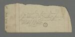 Note de reçu d'une somme de dix-huit francs provenant de l'administration, par l'intermédiaire du frère Jamaid.