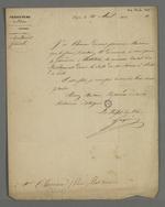 Invitation du préfet Gasparin adressée à Pierre Charnier, pour la première installation du Conseil des Prud'hommes réorganisé, après les journées de novembre 1831.