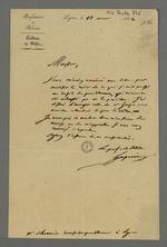 Réponse du préfet Gasparin à la demande de Pierre Charnier d'un rapport concernant le principe de libre défense.