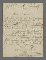Lettre adressée à Pierre Charnier par Depassio, fabricant, dans laquelle il lui demande de conseiller Mlle Verney dans un conflit qui l'oppose au marchand-fabricant qui l'employait.