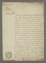 Certificat délivré par le commissaire de police Jean Toussaint concernant la conduite héroïque de Pierre Charnier durant la journée du 21 novembre 1831