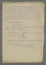 Certificat de conduite à l'intention de Pierre Charnier, délivré par Bailleul, ex-capitaine des voltigeurs, Charrel, ex-lieutenant, Merck, ex-capitaine des grenadiers, et authentifié par Elisée Dervillas, maire de Lyon, signature légalisée par Alexandre, secrétaire général délégué.