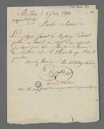 Lettre adressée à Pierre Charnier par Depassio, fabricant et chansonnier, dans laquelle il lui demande de conseiller Jariot sur une question au sujet des droit relatif au statut d'apprenti.