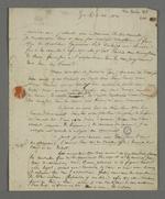 Lettre de Théodore de Seynes adressée à Pierre Charnier lors du séjour de ce dernier à Paris pour effectuer le rapport sur les événements lyonnais auprès du ministère.