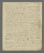 Lettre de recommandation, rédigée par Théodore de Seynes à l'attention de Pierre Charnier, lors du séjour de ce dernier à Paris pour effectuer le rapport sur les événements lyonnais auprès du ministère.