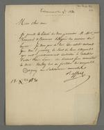 Recommandation de Pierre Charnier et Bernard, effectuée par Raffard à l'intention de Moureau, dans la perspective de leur séjour à Paris pour effectuer le rapport sur les événements lyonnais.