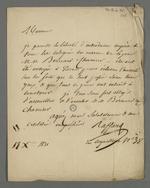 Recommandation de Pierre Charnier et Bernard, effectuée par Raffard à l'intention de Michel Chevalier, dans la perspective de leur séjour à Paris pour effectuer le rapport sur les événements lyonnais.