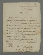 Lettre d'Adélaïde de Montgolfier, adressée à Pierre Charnier concernant le déroulement de son intervention auprès du ministère au sujet des évènements de novembre de Lyon.