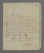 Lettre d'Adélaïde de Montgolfier, adressée à Pierre Charnier dans laquelle elle lui propose de rencontrer l'un de ses amis qui pourrait lui être de quelque utilité.