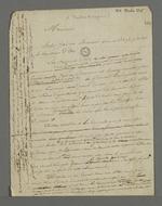 Lettre de Pierre Charnier adressée à Théodore de Seynes, dans laquelle il lui demande d'intervenir auprès du général Lafayette pour lui faire comprendre que ce n'est pas la classe ouvrière qui fut responsable des débordements de l'insurrection lyonnaise de novembre 1831.