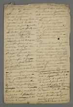 Lettre de Pierre Charnier, sans doute adressée à Théodore de Seynes, dans laquelle il raconte ses nouvelles tentatives de faire parvenir les réclamations des ouvriers lyonnais au Conseil des ministres, réaffirme ses objectifs et rapporte ses rencontres et relations qui l'aident dans sa mission.