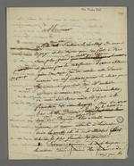 Lettre de Pierre Charnier dans laquelle il annonce son proche départ de Paris et relate sa visite aux bergeries de Villeneuve-Saint-georges, dans le domaine des frères Beauvais, anciens industriels lyonnais, reconvertis dans l'agronomie et la production de soie.