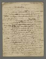 Lettre de Pierre Charnier dans laquelle il décrit ses tentatives pour approcher le ministre du Commerce, ainsi que les relations qu'il noue avec des personnes à qui il pourra déléguer sa mission de faire remonter les réclamations des ouvriers de Lyon.