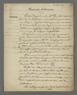 Notes de Pierre Charnier concernant le procès intenté au préfet Dumolart pour son rôle dans le déclenchement des événements de novembre 1831.