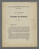 Pétition pour la réforme du Conseil des Prud'hommes, adressée par les maîtres ouvriers aux membres de la Chambre des députés.