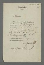 Convocation adressée à Pierre Charnier dans laquelle il est invité à participer à la réunion de la commission de santé publique, reprenant celle qui fut mise en place durant l'épidémie de choléra de 1832.