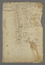 Liste des membres de la première centrale du second mutuellisme, réorganisé autour du Conseil des Prud'hommes, liste dans laquelle figurent les noms et adresses de Pierre Charnier et de Bernard.