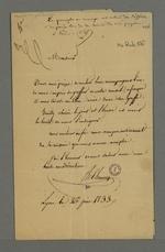 Lettre de Chanay adressée à Pierre Charnier dans laquelle il lui demande de l'accompagner au greffe du Conseil des Prud'hommes afin qu'il y ait libre-accès, selon leur accord autour du projet de rédaction du manuel des prud'hommes.