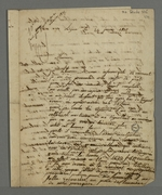 Plainte pour mauvais traitements, déposée auprès de Pierre Charnier par Aldinger, mettant en cause l'agent comptable de la Caisse de prêt, Valençot.