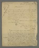 Lettre de Bredin, directeur de l'école vétérinaire de Lyon, adressée à Pierre Charnier dans laquelle il l'invite à participer à la réunion de la commission de santé publique, qui reprend celle qui fut mise en place durant l'épidémie de choléra de 1832, suivie d'une note de Pierre Charnier au sujet de la saisie de cette pièce.