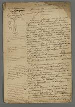 Copie de la lettre adressée à Pierre Charnier par Gamot, président de la commission exécutive de la Caisse de prêt aux chefs d'ateliers, dans laquelle il lui fournit les détails relatifs aux renseignements qu'il lui ont été demandés par la commission.