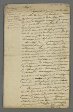 Observations de Pierre Charnier, destinées à Carrier, chef de section des chefs d'ateliers, concernant la tenue des livres de comptes et des fraudes des marchands fabricants auxquelles sont exposés les ouvriers en soie.