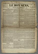Lettre de Pierre Charnier dans laquelle il relate son intervention devant la Cour des Pairs, le 22 juin 1835, publiée dans l'exemplaire du 11 juillet 1835 du journal