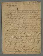 Proposition de Castellan adressée à Pierre Charnier afin qu'il rédige un article sur l'arrestation qu'il a subi lors de sa tentative de dénonciation auprès de la Cour des Pairs, le 22 juin 1835.
