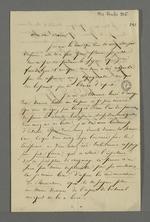 Lettre de Théodore de Seynes adressée à Pierre Charnier dans laquelle il lui retrace ses tentatives auprès des journaux lyonnais, en vue de la publication d'article sur l'arrestation qu'a subi Pierre Charnier lors de sa tentative de dénonciation auprès de la Cour des Pairs, le 22 juin 1835.