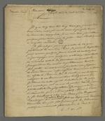 Récit des pressions policières qu'a subi Pierre Charnier lors de sa tentative de dénonciation auprès de la Cour des Pairs, le 22 juin 1835,adressé à une personne, dont le nom a été rendu illisible.