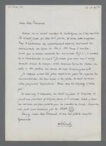 Lettre adressée à Fernand Rude dans laquelle son correspondant atteste de la propriété définitive de Fernand Rude sur les papiers Charnier.