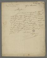 Lettre adressée à Pierre Charnier par Marius Chastaing dans laquelle il lui demande de conseiller Martin Lepin à propos d'un entente à l'amiable.
