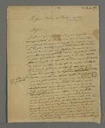 Lettre de Pierre Charnier adressée aux avocats Crémieux et Balso dans laquelle il leur présente son projet de publication d'un code industriel à l'usage des justiciables des prud'hommes.