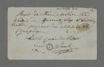 Reçu signé par le caissier des patrons, Janard, d'une souscription du frère Rivière.