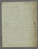 Lettre de Léon Favre adressée à Pierre Charnier, dans laquelle il appelle à une réforme industrielle et effectue un rapide historique de l'industrie soyeuse.